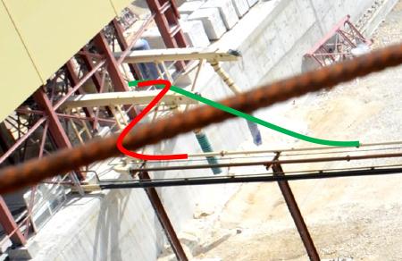 изменение геометрии трубопровода
