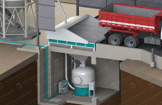 Подача топлевных гранул в силос