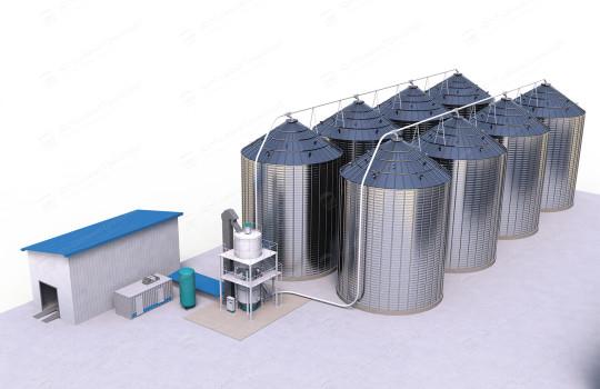 Пневмотранспорт зерна